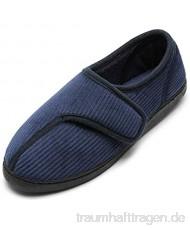 Git-up Diabetiker Hausschuhe Schuhe für Männer Arthritis Ödem Verstellbare Verschluss Memory Foam Hausschuhe