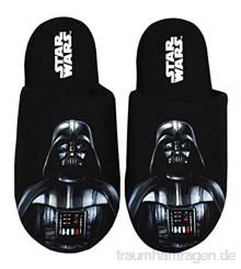 Star Wars Herren Hausschuhe Darth Vader Dark Side Polyester Hausschuhe 43-45 EU