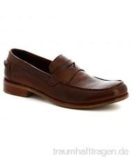 Leonardo Shoes Herren-Mokassins aus Kalbsleder handgefertigt Braun – Modellnummer: 2580/1 Bufalo Cuoio
