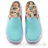 UIN Marbella Red Slipper Herren Painted Slip On Schuhe Lässiger Fashional Sneaker Reiseschuhe Segelschuhe Canvas Rot