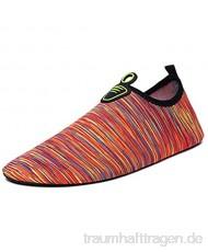 WXYPP Männer und Frauen barfuß weiche Schuhe Wasserschuhe rutschfeste schnell trocknende Schuhe passend für Strand Schwimmen surfen Yoga und Training Aqua Schuhe (Color : Orange Size : 41/42EU)
