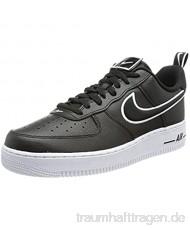 Nike AF1 Herrenschuhe Sneakers aus schwarzem Leder DH2472-001