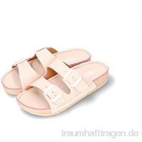 Gezer | Ausverkauf | Damen Pantoletten | Qualität Komfort und Design | Beige Marineblau Fuxia | Größen: 36-41