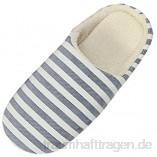 AmyGline Hausschuhe Damen Herren Pantoffeln Winter Gestreifte Baumwolle Pantoffel Hause Boden Drinnen rutschfeste Slippers Flache Schuhe Schlappen