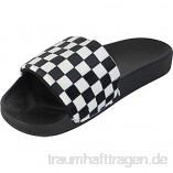 BeMeesh Damen Kurze Slipper Hausschuhe Sandalen weiches Kunstfell Flauschige Federn
