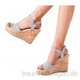 Damen Sommer Outdoor Plateausandalen Mit Keilabsatz In ÜBergrößE Mit Plateau Wedge Peep Toe High Heel Schuhe Elegante Anti-Rutsch-Sandalen