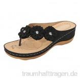 Sonnena Damen Sandalen Sommer Lässige Espadrilles Flache Schuhe Plateau Flat Heel Elegant Peep Toe Pantoletten Flip Flop Schuhe Strandsandalen Anti-Rutsch-Sandalen