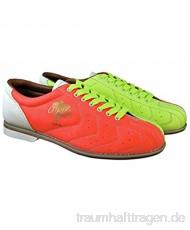 Damen Glow TCRGL Cobra Rental Bowling-Schuhe Schnürsenkel Neongelb/Orange/Weiß 8 M US