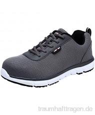 LARNMERN Sicherheitsschuhe Stahlkappe Herren SRC Anti Slip Arbeitsschuhe Anti Statische Industrie Schuhe (47 EU Grau)