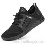 tqgold® Sicherheitsschuhe Herren Damen Sommer Arbeitsschuhe mit Stahlkappe Leichtgewicht Breathable rutschfeste Schuhe