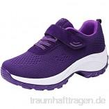 Deloito Damen Sneaker Fliegendes Weben Laufschuhe/Mädchen Freizeit Turnschuhe Luftkissen Touristische Schuhe/atmungsaktiv Sportschuhe