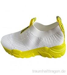 PMUYBHF Outdoorsandalen Damen Freizeitschuhe Keilabsatz Leicht Walking Schuhe Plateau Turnschuhe Mesh Atmungsaktive Fitness Sneaker Laufschuhe