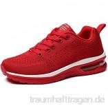 GAXmi Damen Luftkissen Laufschuhe Mesh Atmungsaktiv Running Fitness Turnschuhe rutschfest Stoßfest Outdoors Sportschuhe