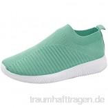 Deloito Damen Sneaker Bequeme Schlüpfen Sportschuhe Mesh Atmungsaktive Turnschuhe Freizeit Flache Laufen Schuhe