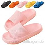 Badeschlappen Damen Herren Sandalen Sommer Unisex Badeschuhe Home Slippers Badelatschen Gartenschuhe Rutschfest Pantoffeln Indoor Hausschuhe Schlappen Strand Sandale ( Color : Pink   Size : 40/41 EU )