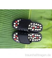 Muffin Unten Hausschuhe Rotierende Massagepantoffeln an den Fußsohlen runde Pediküre-Schuhe mit Widerhaken Memory Foam Sandalen