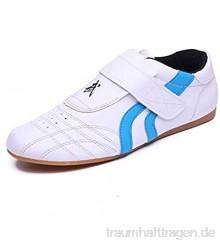 Meng Taekwondo Schuhe  Atmungsaktiv Kampfsport Turnschuhe  Sport Boxen Kung Fu Taichi Leichte Schuhe for Erwachsene und Kinder (Color : Blue  Size : 35)