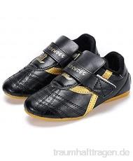 Meng Taekwondo Schuhe Kampfkunst Sneaker Boxen Karate Kung Fu Tai Chi Schuhe Schwarze Streifen Turnschuhe Leichte Schuhe (Color : Black Size : 35)