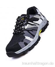 meng Sicherheitsschuhe Herren Leicht Atmungsaktiv Arbeitsschuhe Für Damen Bauarbeit Sneaker Bauschuhe Und Industrie (Color : Black Size : 41)
