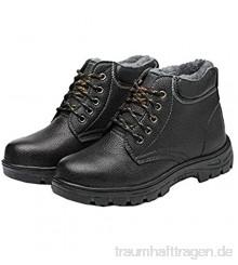 meng Sicherheitsschuhe Herren S3 Leicht Arbeitsschuhe Atmungsaktiv Mit Stahlkappen Einstichresistent Sportlich Schuhe (Color : Black  Size : 37)