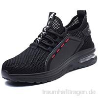 NACKINg Arbeitsschuhe Herren S3 Leicht Sportlich Sicherheitsschuhe Damen Atmungsaktiv Schutzschuhe Stahlkappe Sneaker 36-46