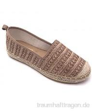 Angkorly - Damen Schuhe Espadrilles - Strand - Bequeme - Flache - Seil - Geflochten - mit Stroh Flache Ferse 1 cm