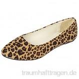 Damen Klassische Ballerinas Flache Loafer mit Leopardenmuster  Frauen Bequeme Mokassins Elegante Slipper Casual Slip-Ons Damenschuhe Schöner Schuh Celucke