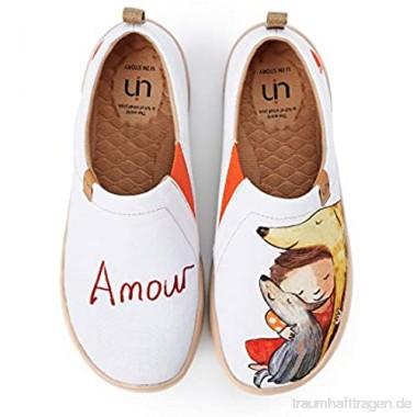 UIN Amour Damen Painted Slip On Schuhe Reiseschuhe Lässiger Fashional Sneaker Segelschuhe Canvas Mehrfarbig