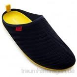 Andres Machado - Unisex Hausschuhe für Damen/Herren – Sommer – Dynamic – Pantoffeln Slipper - atmungsaktive Netzstruktur – rutschfeste Gummisohle/herausnehmbares Fußbett - Navy/Gelb EU 40