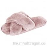 De feuilles Hausschuhe Damen Mädchen Winter Plüsch Wärme Weiche Home Kuschelige Pantoffeln rutschfeste Slippers