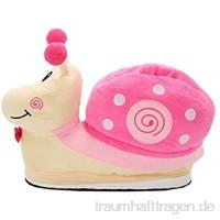 Luojida Damen Plüsch Pantoffeln Kostüm Schnecke Hausschuhe Tierhausschuhe Gr. 35-40