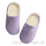 Shujin Unisex Winter Hausschuhe Plüsch Weiche Leicht Wärme Pantoffeln Soft Sole Wärmehausschuhe Rutschfeste Slippers für Damen Herren