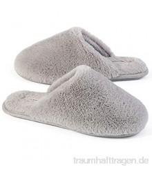 Snug Leaves Damen Flauschige Hausschuhe mit Kunstfell und Memory Foam  Sexy und Klassische Pantoffeln