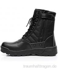 MERRYHE Herren-Militärstiefel Desert Combat-Stiefel High-Top-Outdoor-Sportkletterschuhe Schnürstiefel mit seitlichem Reißverschluss für Herren