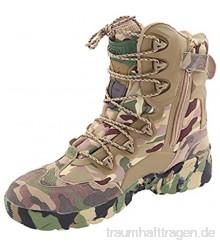 Wygwlg Herren Militär High-Top-Schuhe Camo Tactical Wanderschuhe Combat All Terrain Boots Outdoor Warm halten Police Force Arbeitsschuhe Camo -41