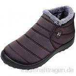 AmyGline Winterstiefel Damen Herren Schneestiefel Ankle Boots Warm Gefüttert Wasserdicht Stiefeletten Outdoor Winter rutschfest Kurzschaft Stiefel Schuhe Schlupfstiefel