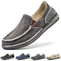 Adoff Herren Espadrilles Freizeitschuhe Segeltuch Faulenzer Schlüpfen Flache Freizeitschuhe Erbsen Schuhe Fahrschuhe Bootsdeck Schuhe Halbschuhe